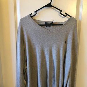 Pima Cotton V Neck Sweater